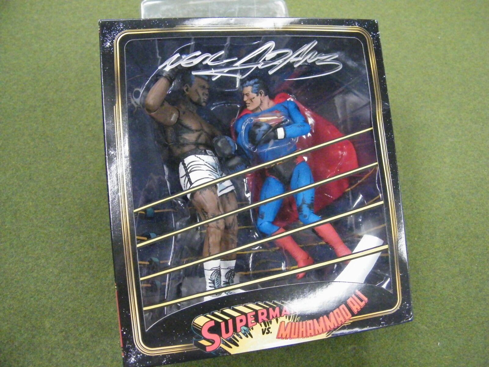 Superman VS Muhammad Ali Action Figure Box Set Autographed by Neal Adams