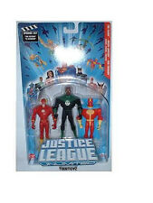JUSTICE LEAGUE UNLIMITED Collection__THE FLASH_Green Lantern_RED TORNADO figures