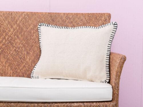 A Simple Mess - Kissenhülle Mathilde creme weiß, 40x60 Baumwolle