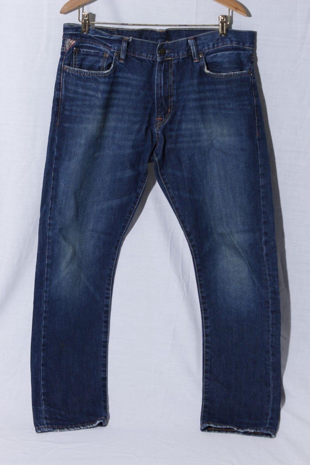 Ralph Lauren Denim & Supply Men's Tapered Straight bluee Jeans sz 34 30