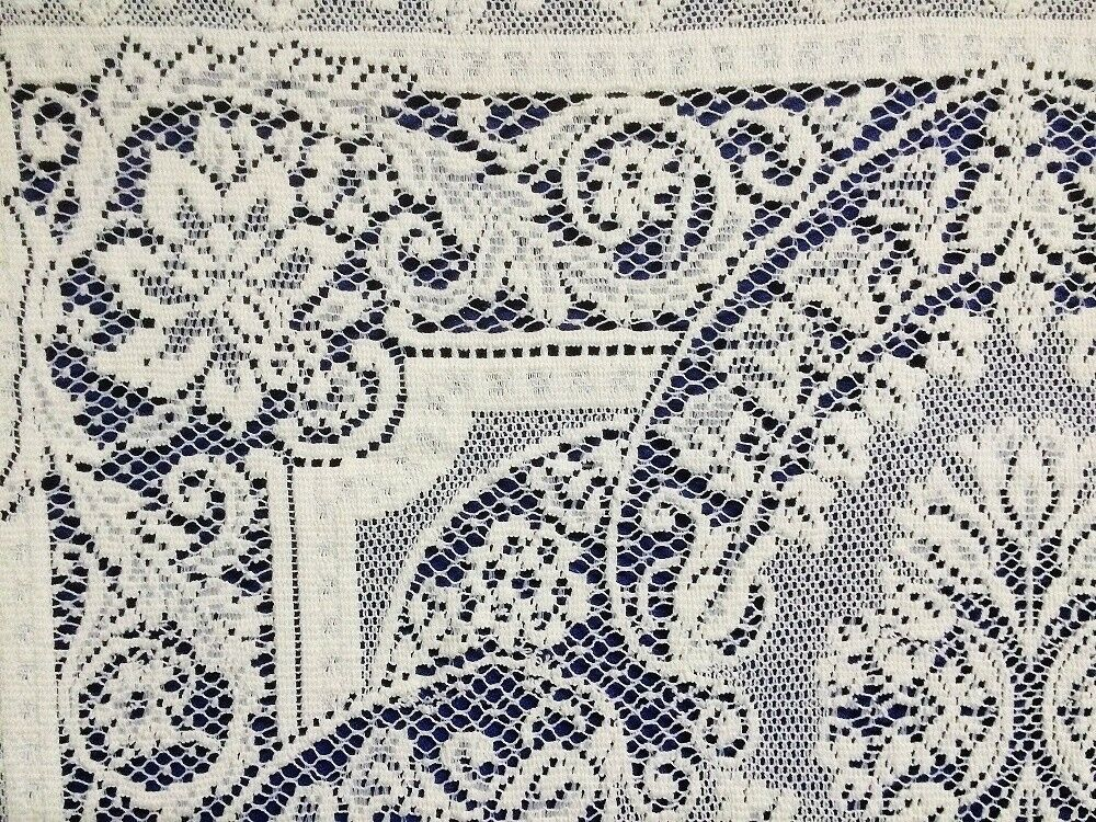Ivory Ivory Ivory Savoy 36  x 36  Cotton Blend Lace Table Topper Accent Livingroom Bedroom 9c399e