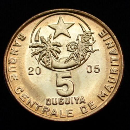 Uncirculated Coin km3a Mauritania 5 Ouguiya 2005