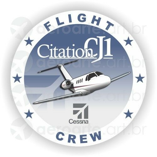 Cessna Citation CJ1 aircraft round sticker