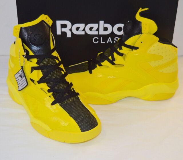 b1c646d09ecb New Reebok Shaq Attaq Modern PUMP Yellow Black Bruce Lee Kill Bill sz 11.5