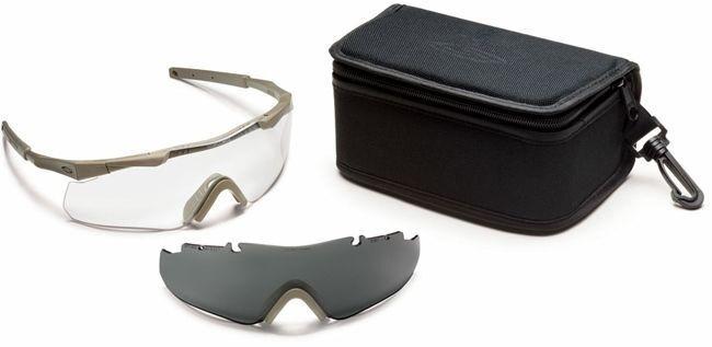 Smith Elite ARC Aegis ARC Elite Compact Safety Glasses   Tan Frame   Clear & grau Lenses 1e5479