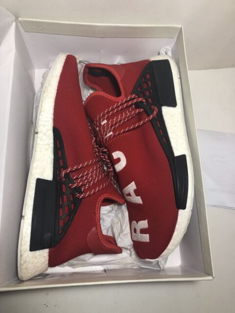 "new products ecd9f 84f1c Adidas Pharrell Williams NMD Human Race ""HU Race"" Red Size 13 authentic  BB0616"