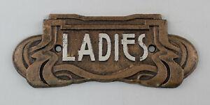 9977631-Cast-Metal-Door-Sign-Toilet-Ladies-Art-Nouveau-Rustic-19x7-5cm