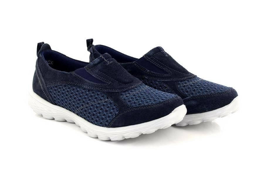 Señora Boulevard l9551 ocio ocio ocio forma espuma espuma calcetín entrenador zapatos azul marino  comprar barato