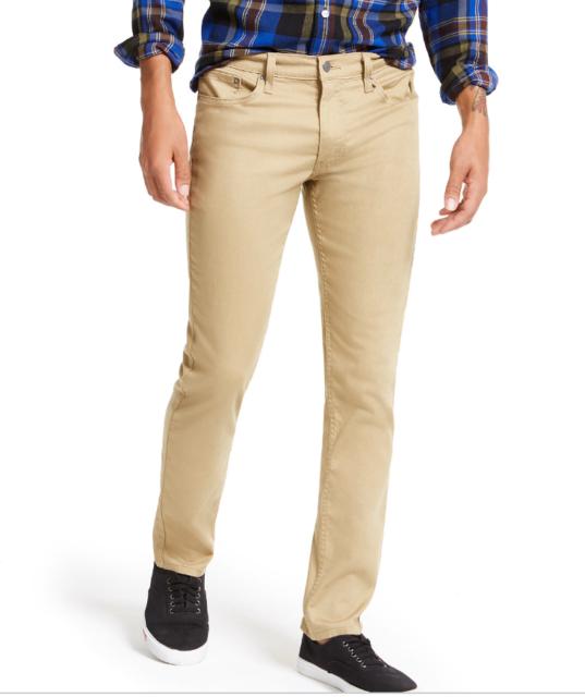 Levis Men's 511 Slim Fit Stretch Flannel Jeans Harvest Gold