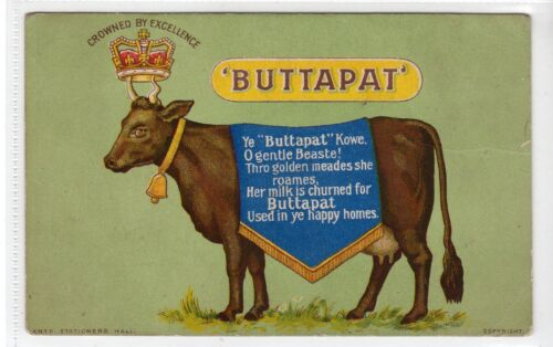 """BUTTAPAT"" BUTTER Advertising postcard C18770"