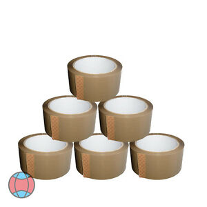 NEW-BROWN-6X-STRONG-PARCEL-ADHESIVE-TAPE-PACKAGING-CARTON-SEALING-48MMX66M
