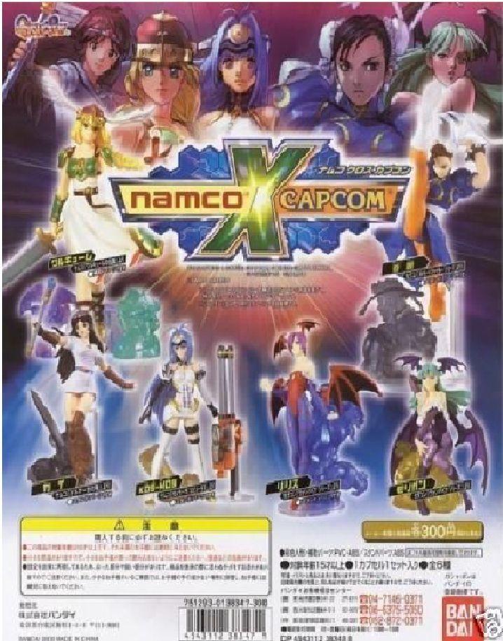 Rare Bandai Namco x Capcom Capcom Capcom Gashapon Figure 6 piece set Morrigan Lilith New 848582