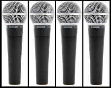 (4) New Shure SM58 Vocal Mics  Authorised Dealer Make Offer Buy It Now!
