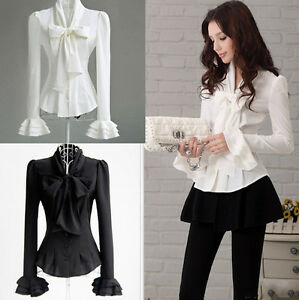 Camicia-Donna-Manica-Lunga-Casual-Woman-Shirt-Blouse-Long-Sleeves-A541001