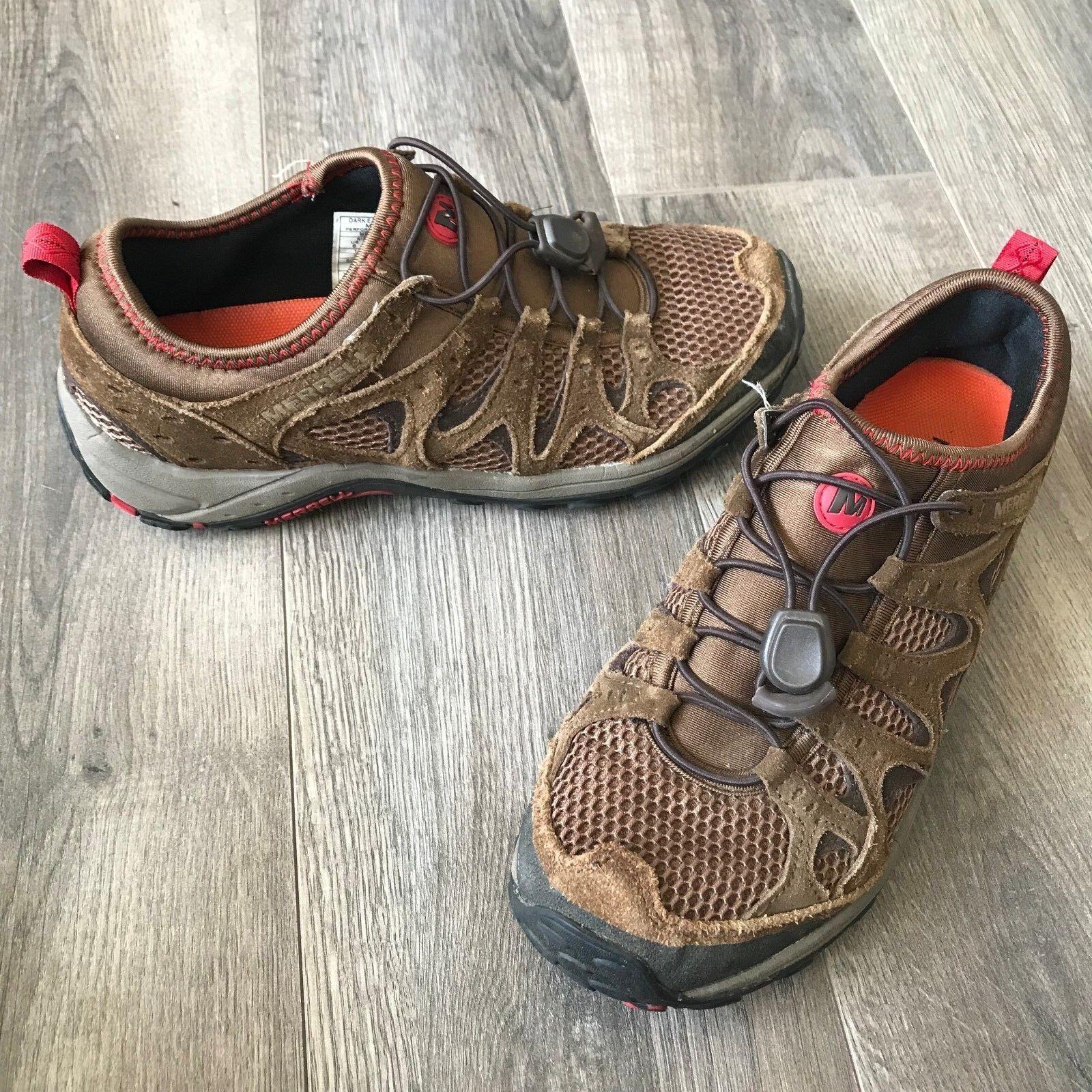 Merrell Men's Mimic Stretch Dark Earth/Crimson Hiking Shoes Size 8