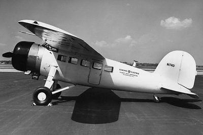 Transport Smart Lockheed Vega Flugzeug Seitenansicht 8x12 Silber Halogen Fotodruck