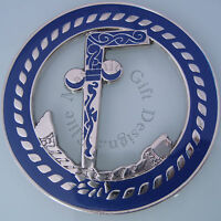 Two Ball Cane Masonic Cut Out Car Auto Emblem Free Mason (silver)