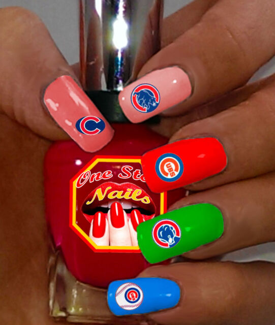 Baseball Chicago Cubs Fans Vinyl L And Stick Nail Decals Ws Cc01