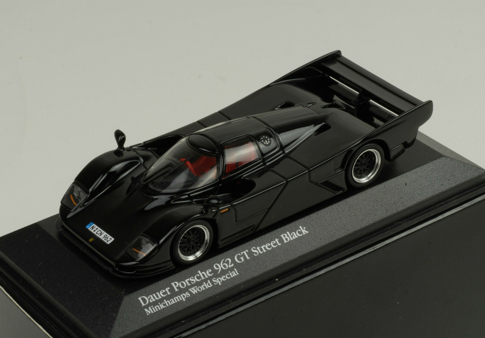 centro comercial de moda Porsche 962 Gt Street Negro Negro Negro Mundo Special 1 43 Minichamps  alta calidad