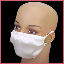 Block Pollen Flu Virus Asthma Pollution, 2 Layers White Silk Mask Protect Family