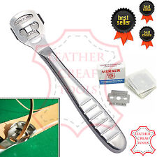 Leathercraft Edge Skiving Skiver Tool For Thinning Leather Craft Steel 10 Blades
