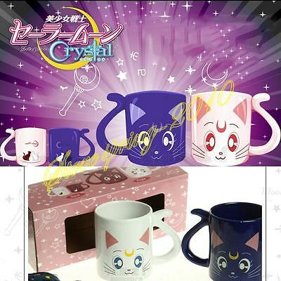 Sailor Moon Crystal 20th Anniversary Mug Cups Valentine's Xmas Gifts 2Pcs Set