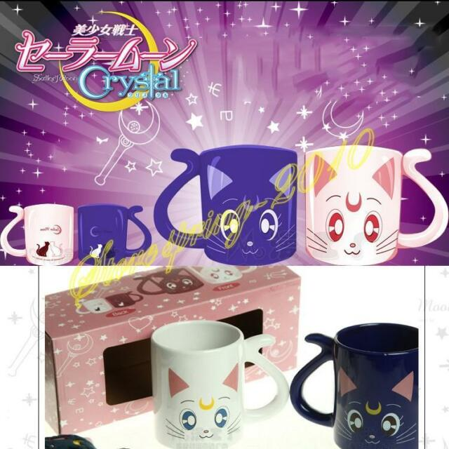 Sailor Moon Crystal 20th Anniversary Mug Cups Valentine's Xmas Gifts 2Pcs Set