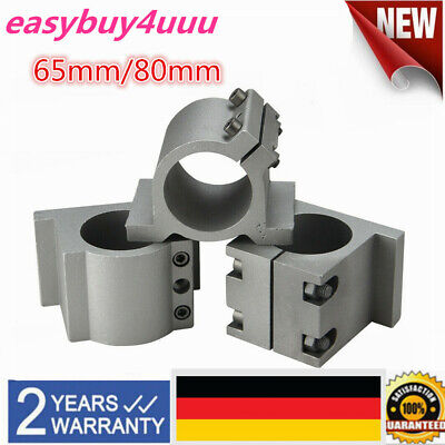 80mm Spindelaufnahme CNC Spindelhalter Halterung f/ür CNC Fr/äsmotor