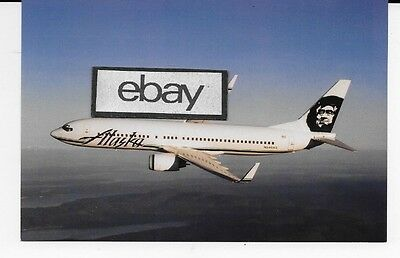 Alaska Airlines Boeing 737 800 N546as With Winglets Airline Issue Postcard Ebay