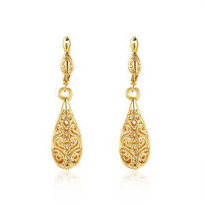 14kt Gold Plated Oval Shape With Tree And Bird Pattern