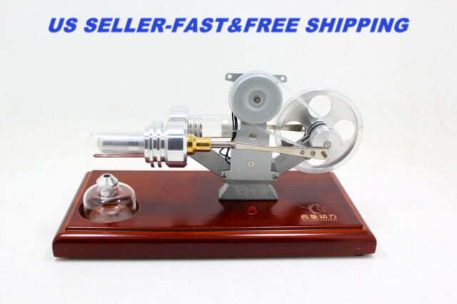 Mini Hot Air Stirling Engine Motor Model Educational Toy Electricity generator