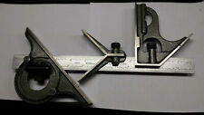 Mitutoyo Hardened Combination Square Withprotractor Center Head 12 Amp 18 Rules
