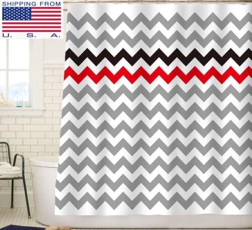 Animal Chevron Cat Waterproof Fabric Shower Curtain Bathroom  72x72