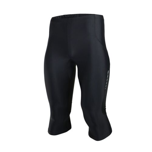 Mens 3//4 Running Pants Compression Base Layer Workout Clothes Fitness Pants