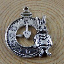 12X Antike Silber Legierung Kaninchen Taktgeber Anhänger Charme Schmuck 50917