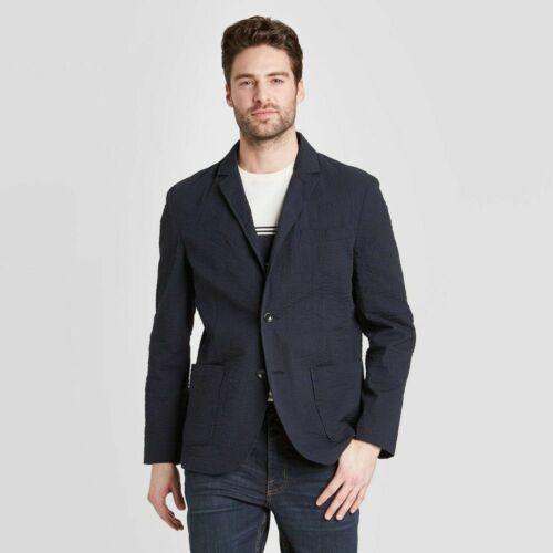 Goodfellow /& Co Navy blue Men/'s Striped Standard Fit Seersucker Kenwood Blazer