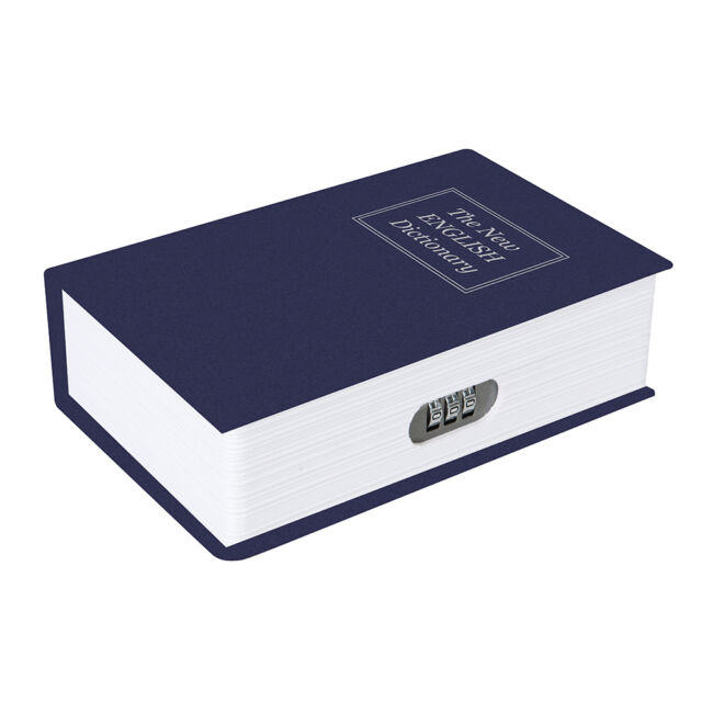 Buchtresor - Robuste Metallkassette mit 3-stelliger Zahlenkombination