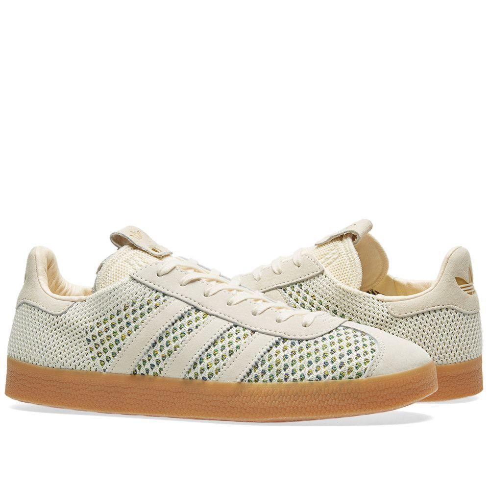 ADIDAS Consortium x scarpe da ginnastica politica Gazzella PK Crema & collegiale viola