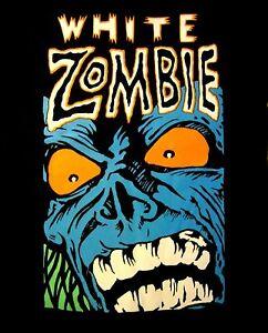 WHITE-ZOMBIE-cd-lgo-BLUE-MONSTER-GROWL-Official-SHIRT-XXL-2X-New-rob-zombie