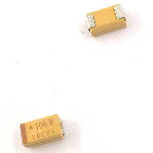 10PCS 25V 1UF A case 105E ±10/% 1206 SMD Tantalum Capacitors 3.2mm×1.6mm