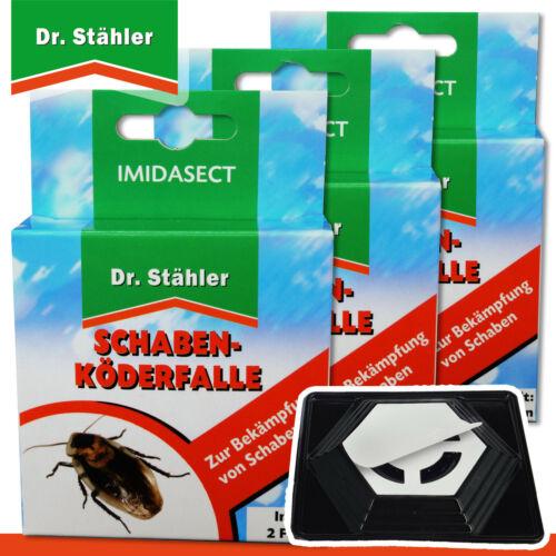 Dr Stähler 3 x 2 Schaben-Köderfallen Imidasect