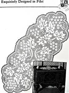 reproduction 1088 Vintage Design FILET GRAPE CENTERPIECE Pattern to Crochet