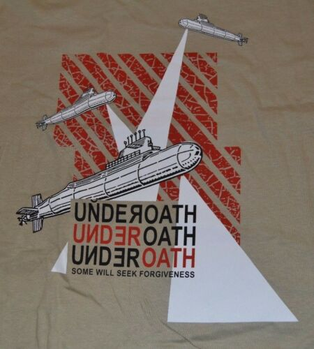 Underoath Mens L  T-Shirt Some Will Seek Forgiveness They/'re Only Chasing Safety