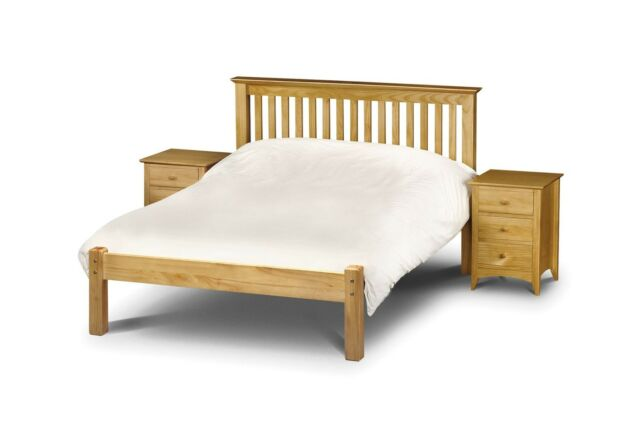 Julian Bowen Barcelona Solid Wood Bed Frame 4ft Small Double 120cm ...