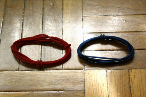 2 MT Guitar Electric Red /& Blau 22 Awg Vintage Cloth Covered Wire
