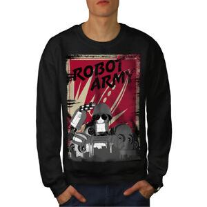 Robot Funny Felpa Men New Black Geek Army UvwFq8n
