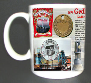 GEDLING-COLLIERY-COAL-MINE-MUG-LIMITED-EDITION-GIFT-MINER-NOTTINGHAMSHIRE-PIT