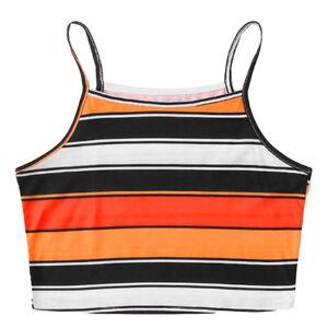 Women-Fashion-Sexy-Stripe-Print-Tank-Top-Sleeveless-Crop-Top-T-Shirt-Tops-CA