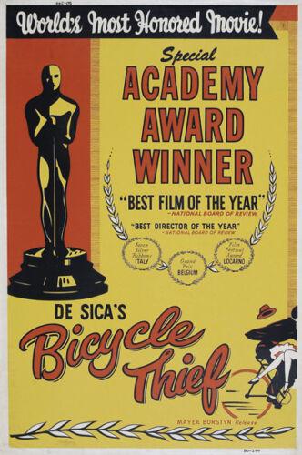 The bicycle thief Vittorio De Sica vintage movie poster 2