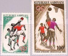 GABON GABUN 1965 225-26 183 C35 1st African Sport Games Brazzaville Basketball**